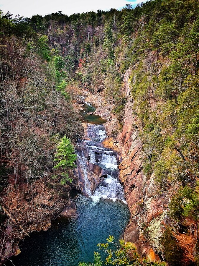An overview of Tallulah Falls