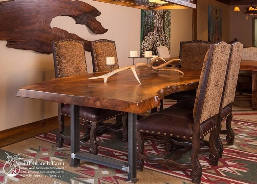 You'll always want to host meals when you have this beauty in your home. Rustic dining table by Littlebranch Farm. Click here for details and pricing info.