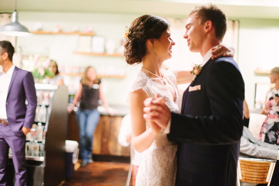"""The newlyweds shared their first dance to """"Thinking Out Loud"""" by Ed Sheeran."""