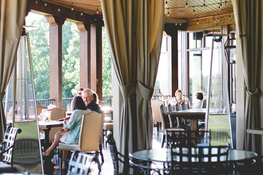The porch at Montaluce Winery | Image: Horn Photography & Design