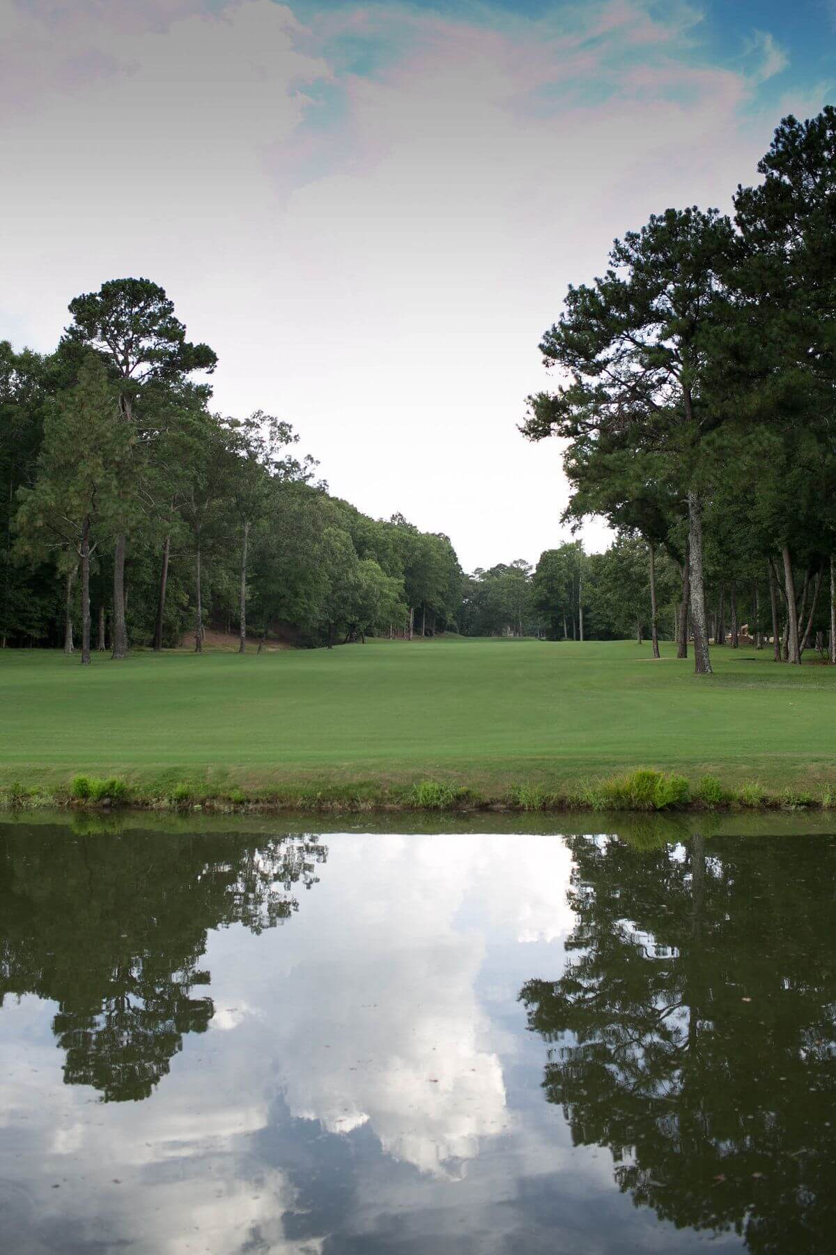 The well manicured golf course complements the splendor of the untouched land.