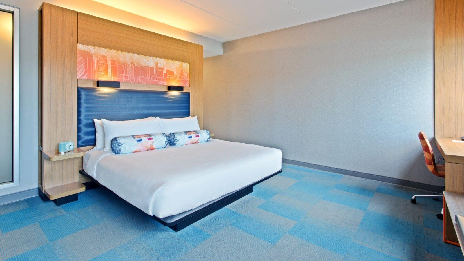 Colorful, current and cool describes the rooms at ALoft SoHo Square. Image: Aloft SoHo Square