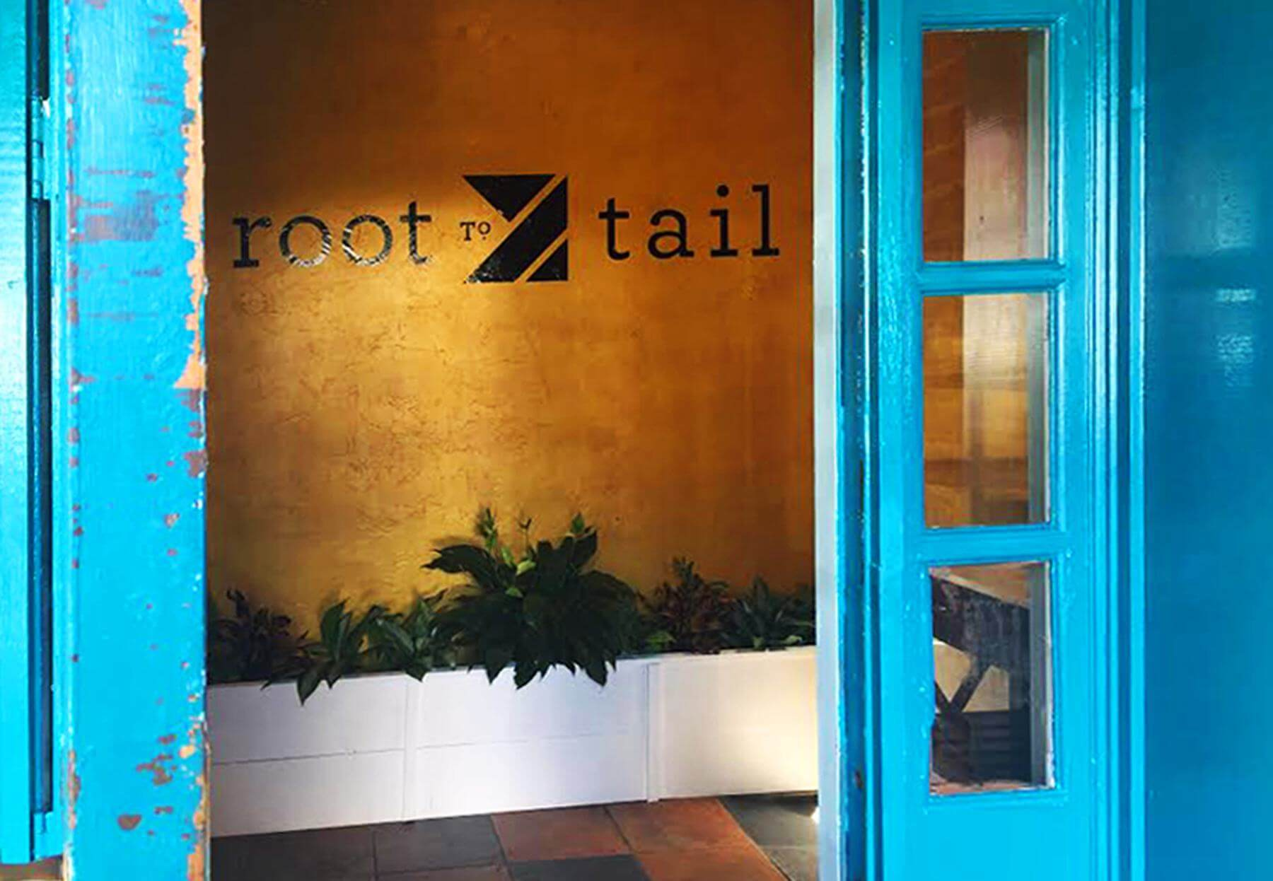 The striking new entrance to Root to Tail