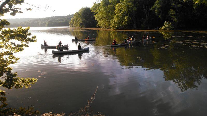 During the summer, take advantage of guided canoe trips!