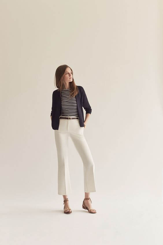 There's something retro-chic and timelessly classic about this nautical look, and we love it! Image: Ann Taylor