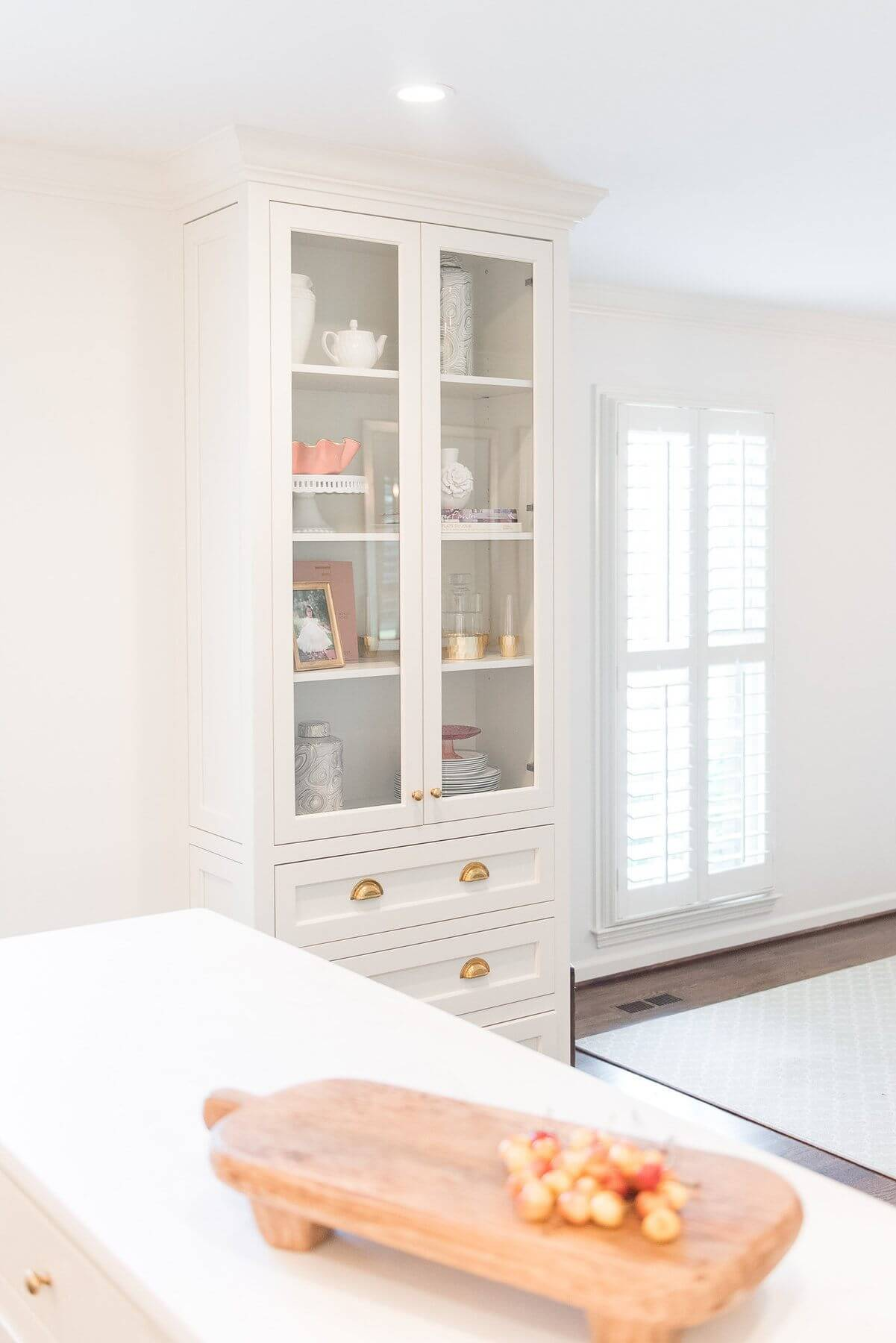 Cyndy Cantley drew the China cabinet into the floor plan, and it was an unexpected yet welcome surprise.