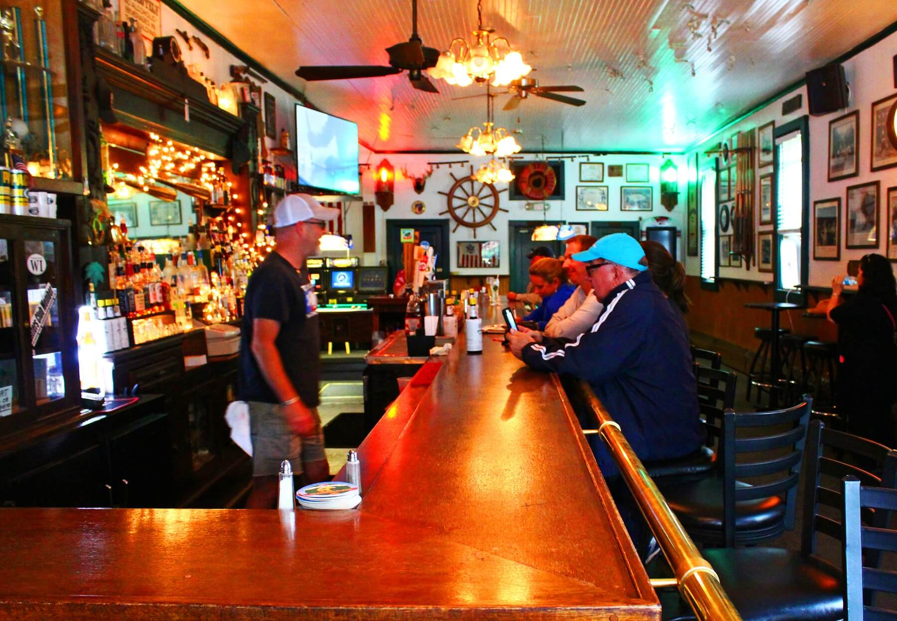 Nelsen's Hall Bitters Pub & Restaurant is a colorful place with lots of character.