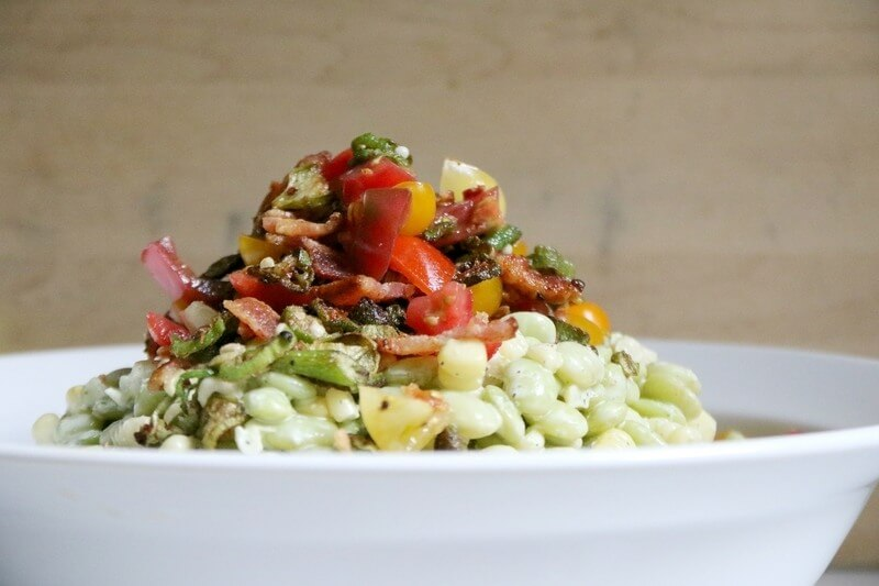 This butter bean & corn salad recipe is a perfect late summer dish!