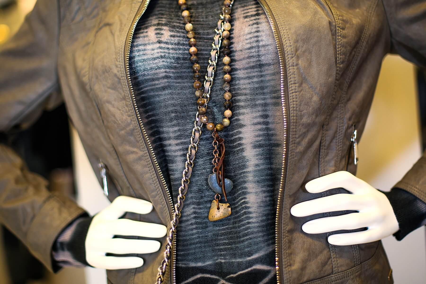Take a closer look at this intriguing necklace at Gus Mayer.