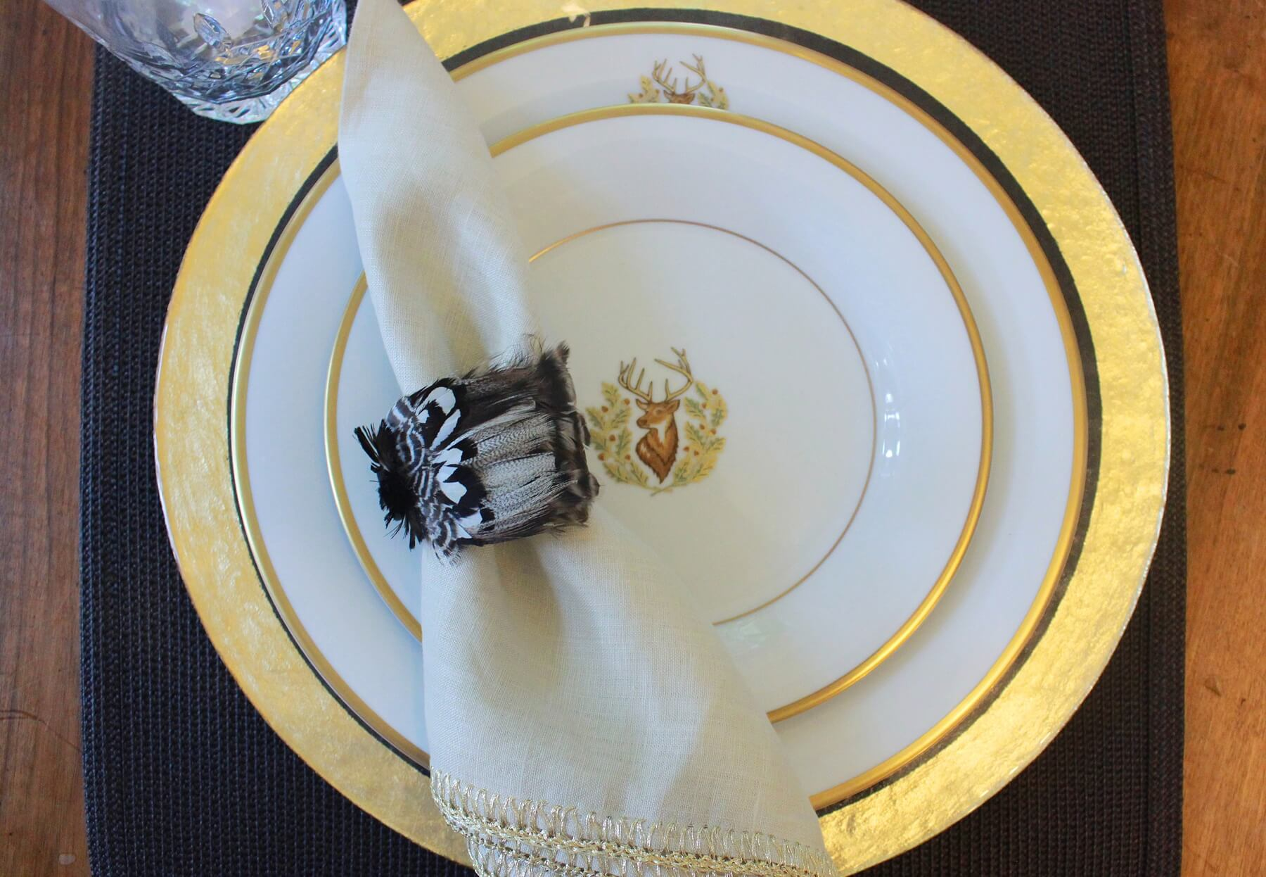 Charlotte Moss place setting, salad plate for $76, dinner plate for $102, at Social