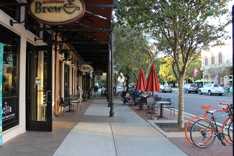 Locally owned Bodacious Brew lures downtown residents and visitors both on the popular Palafox Street.
