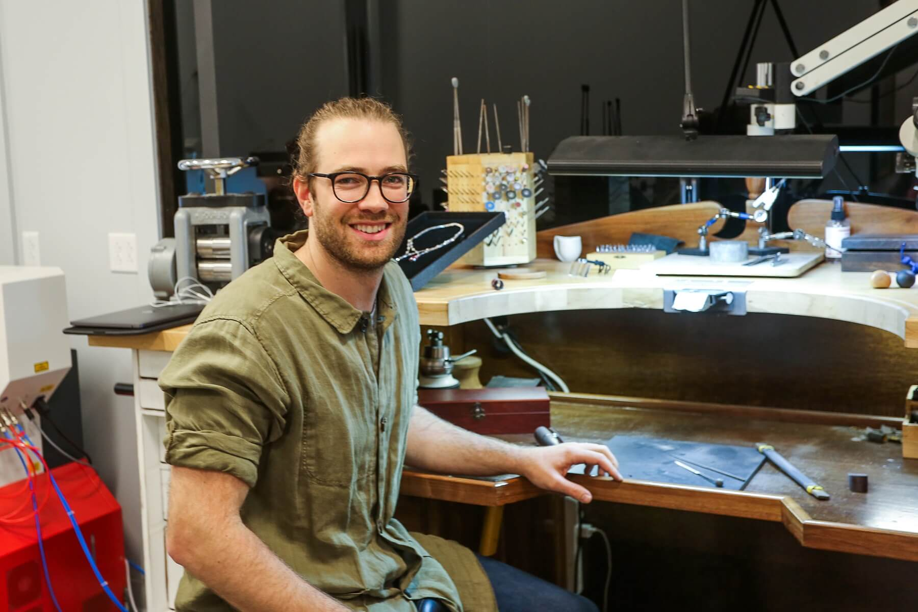 Tim Stammen is E.J. Sain's in-house jewelry designer. He can create pieces from scratch, or bring him your ideas and he will bring them to life!