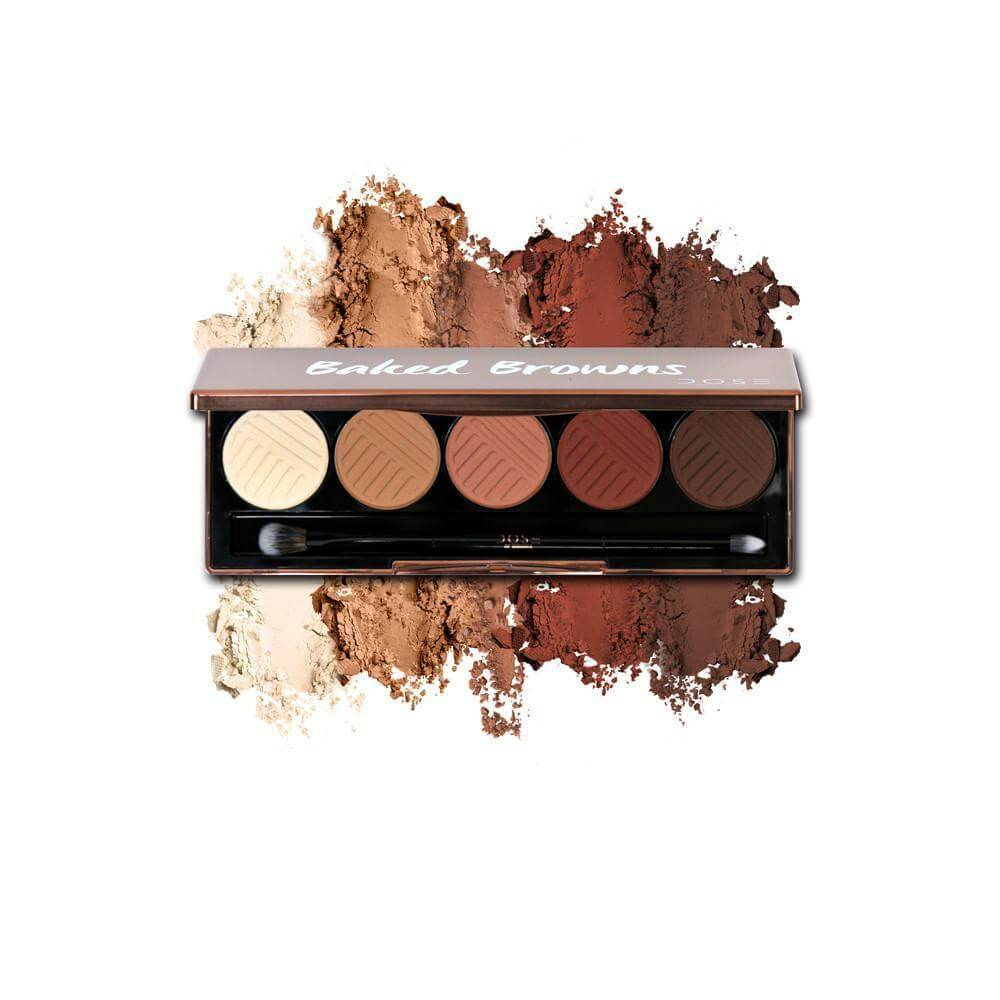 "Can't imagine spending that much time on your eyeshadow every morning? This Baked Browns palette takes all the stress out of application. Just follow the pans from lightest to darkest finishing by placing the deep brown in the corner of your lid and your blue or grey eyes will look incredible! This, by Dose of Colors, is $35. <a href=""http://bit.ly/2zPKq47"" target=""_blank"" rel=""noopener"">Details here. </a>"