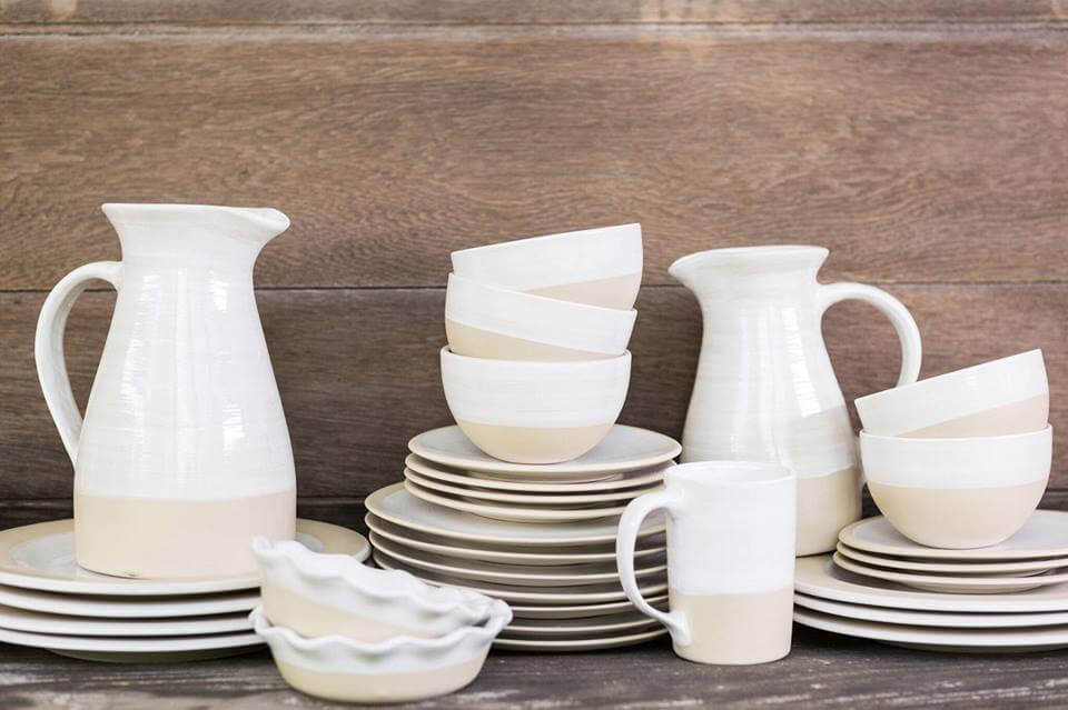 Louisville Pottery Collection place settings for 10 people, $1,100, at Stoneware & Co. | Image: Andrew Kung