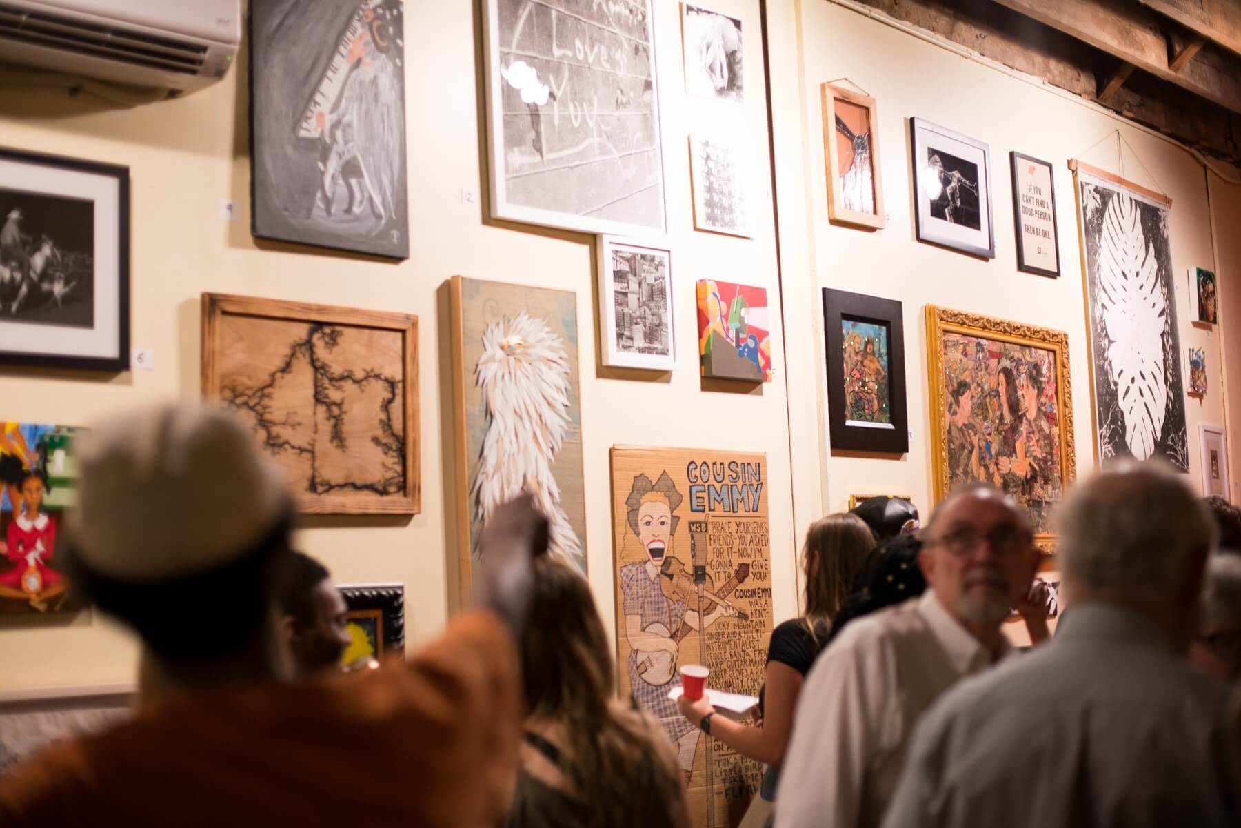 The Jaybird recently joined downtown's growing list of quirky destinations. Artwork and books line the wall, keeping patrons engaged. Image: Glory McLaughlin