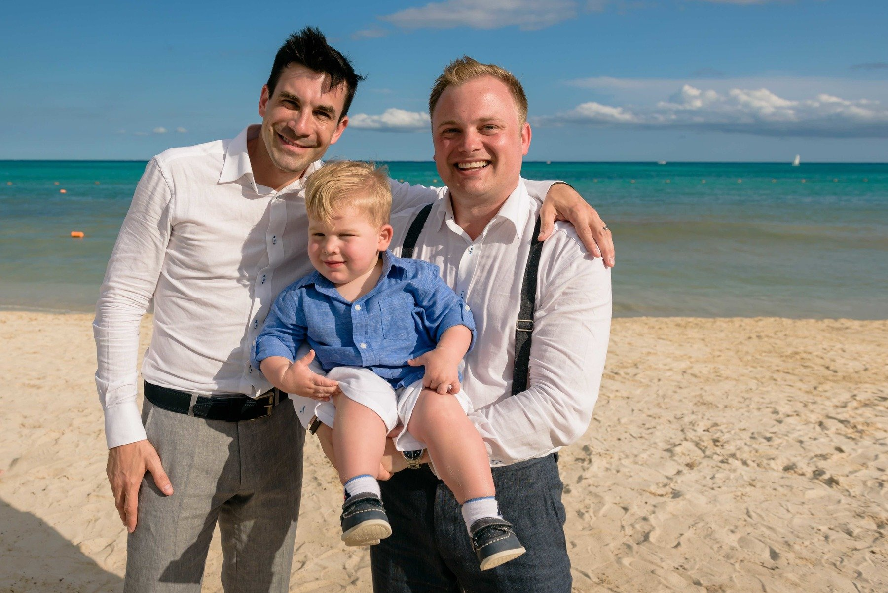 The wedding day ended up sunny, warm and all around delightful for Doug, Sawyer, and Brent.