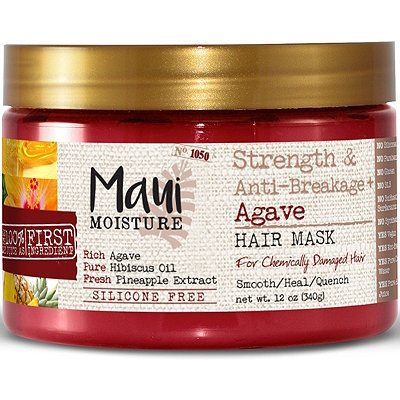 "Formulated with honey, hibiscus oil and pineapple extract, this affordable hair mask will make you feel like you just left the salon. It strengthens, moisturizes and prevents breakage in hair without containing harsh silicone. It is especially ideal for chemically damaged or color treated hair. This, by Maui Moisture, is $7.09. <a href=""http://bit.ly/2Dq06th"" target=""_blank"" rel=""noopener"">Details here</a>. Image: Ulta"