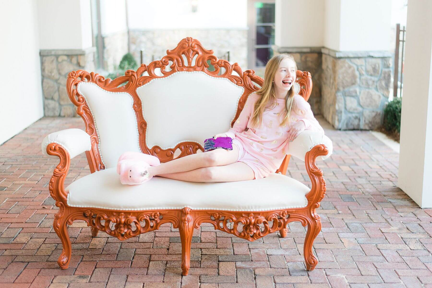 This precious pineapple pajama set is the ultimate cozy loungewear attire. Or pair the pullover with some GiGi's Teen denim and you've got a super cute and comfy everyday look. Find the pullover for $56 and shorts for $42 at GiGi's Teen.