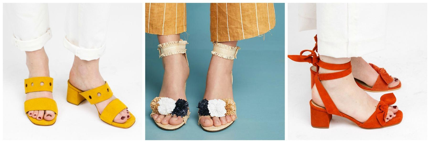 Lastly, dress up those looks and add some festive fun to your Spring Break attire with these colorful and comfortable heels. The Fashionable Block heels are $128, the Anthropologie Pom Pom heels are $148 and the Fashionable Wrap heels are $128. Image: Fashionable/Anthropologie