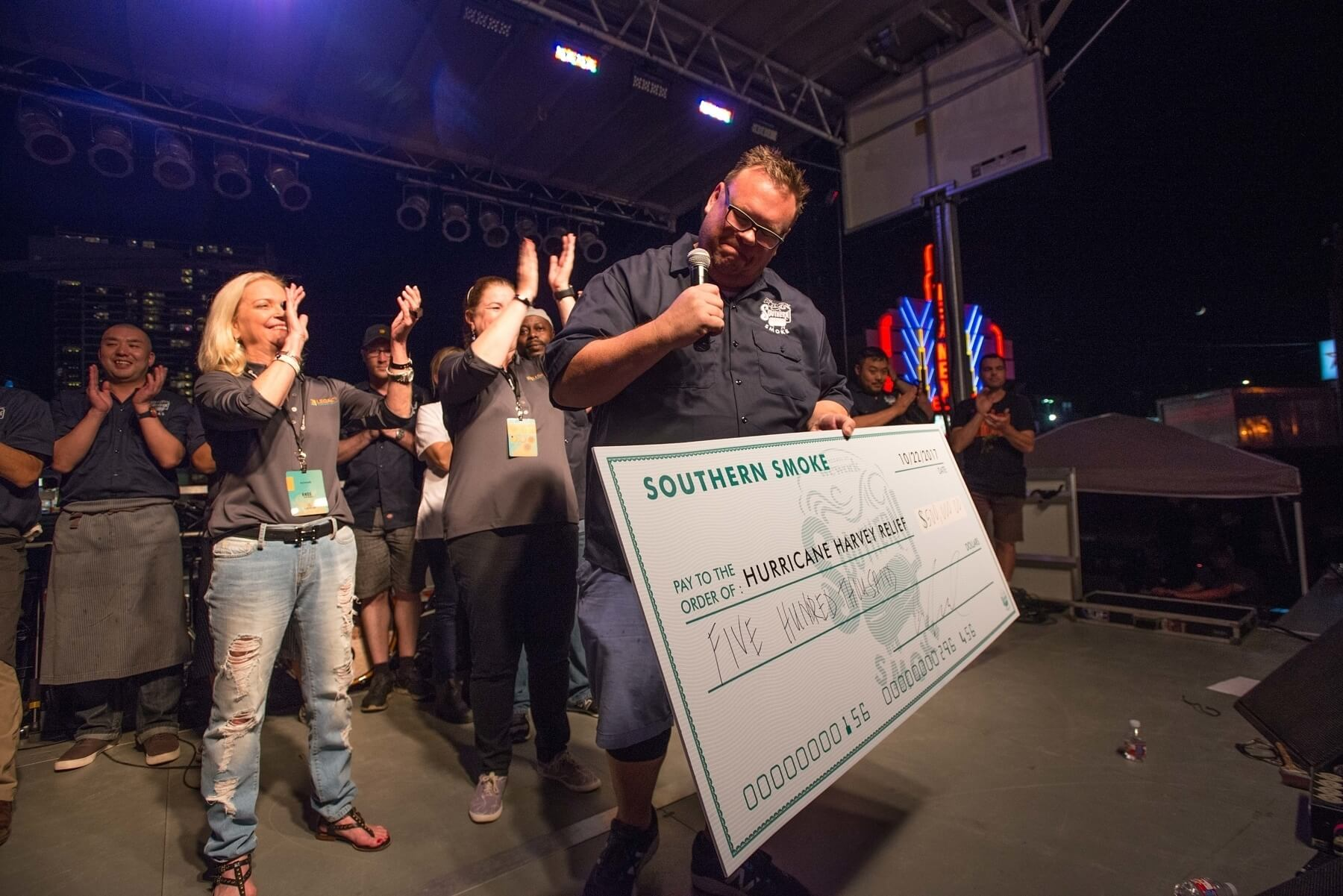 Southern Smoke, spearheaded by James Beard award winning chef Chris Shepherd, raises $500,000 for Houston Harvey Relief. Image: