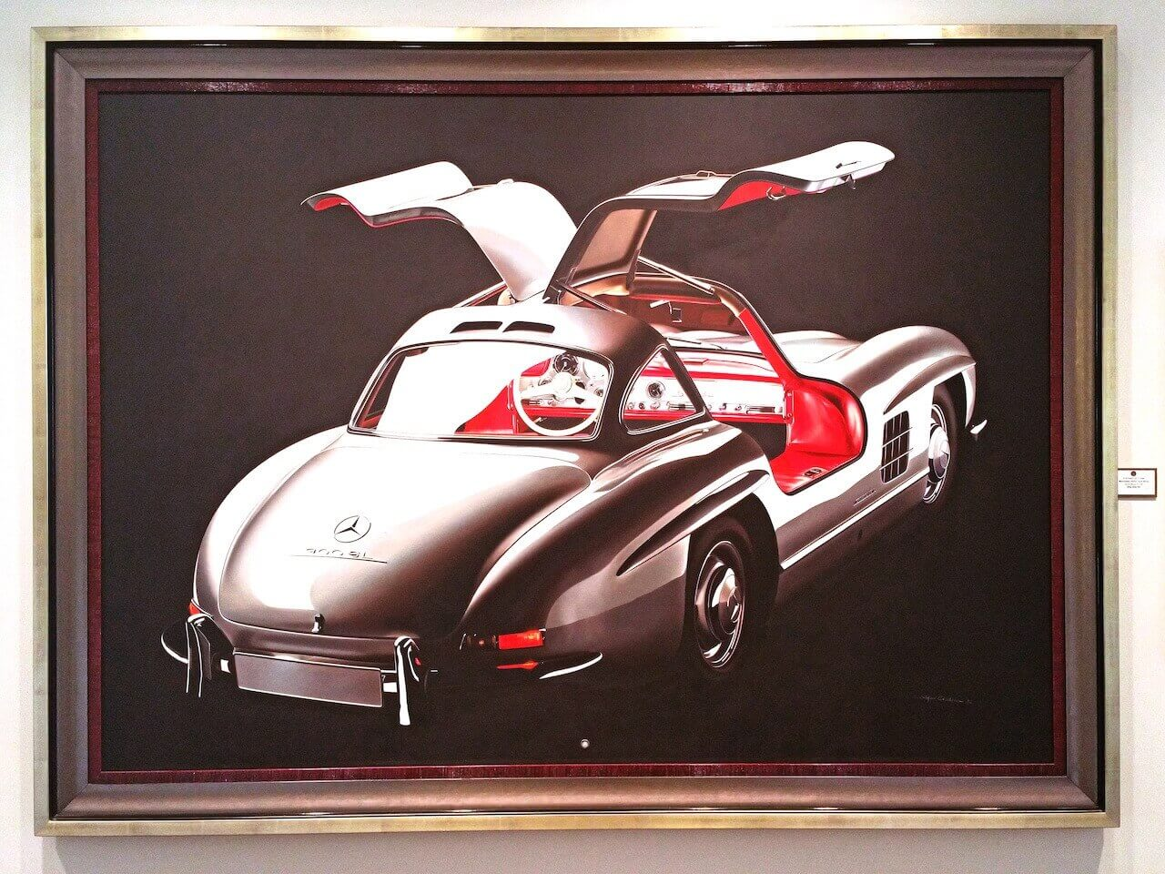 """Mercedes 300SL Gull Wing"" in oil on wood by Stefano Cecchini"