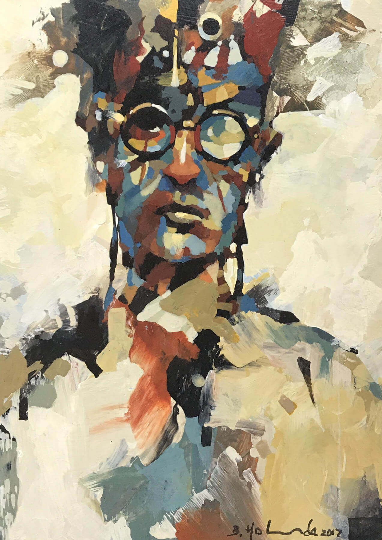 """Portrait Series #13"" by Bruce Holwerda at Canary Gallery"