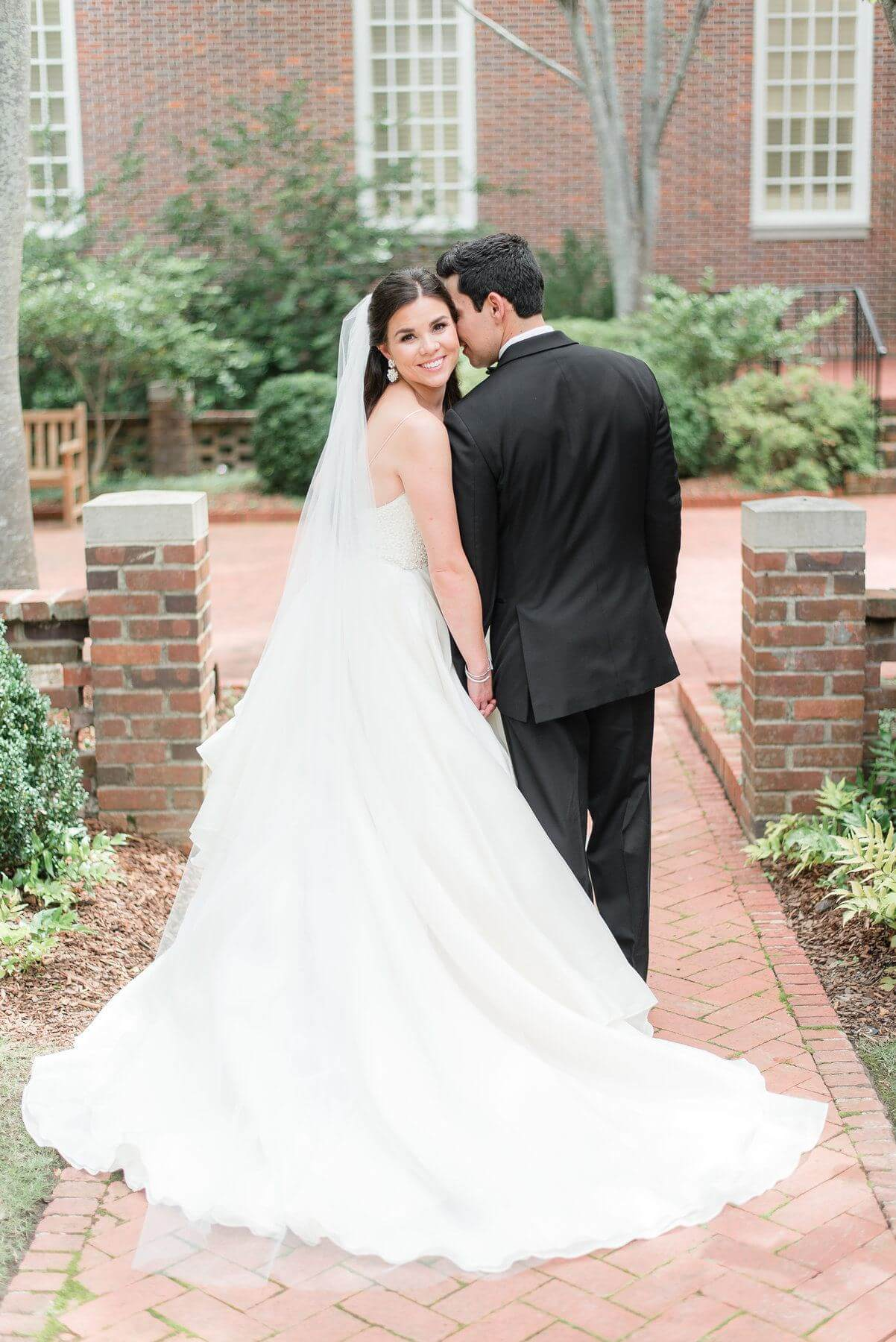 This sweet couple steals a few moments together before the ceremony.