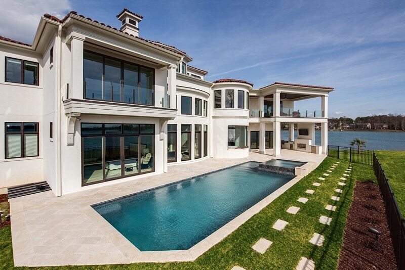 Luxury Awaits in This Mediterranean Lake-Side Home