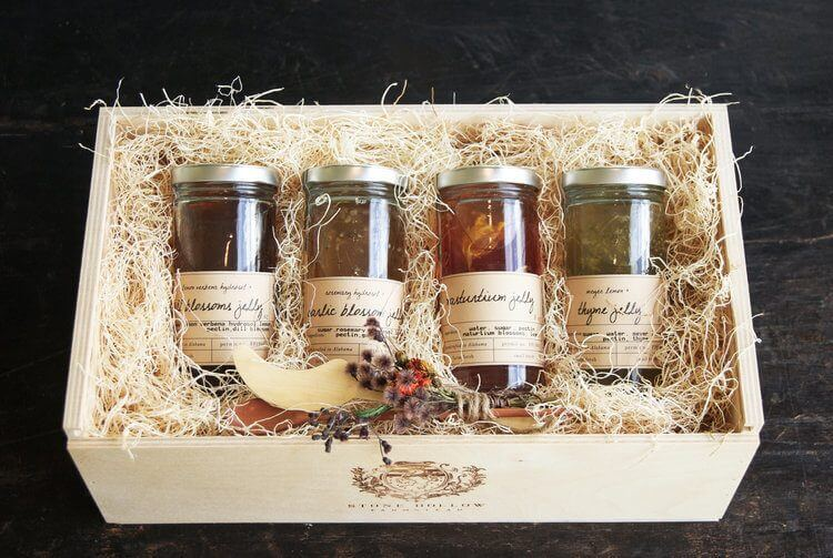 Floral jelly box, $100, at Stone Hollow Farmstead. Image: The Pantry by Stone Hollow Farmstead