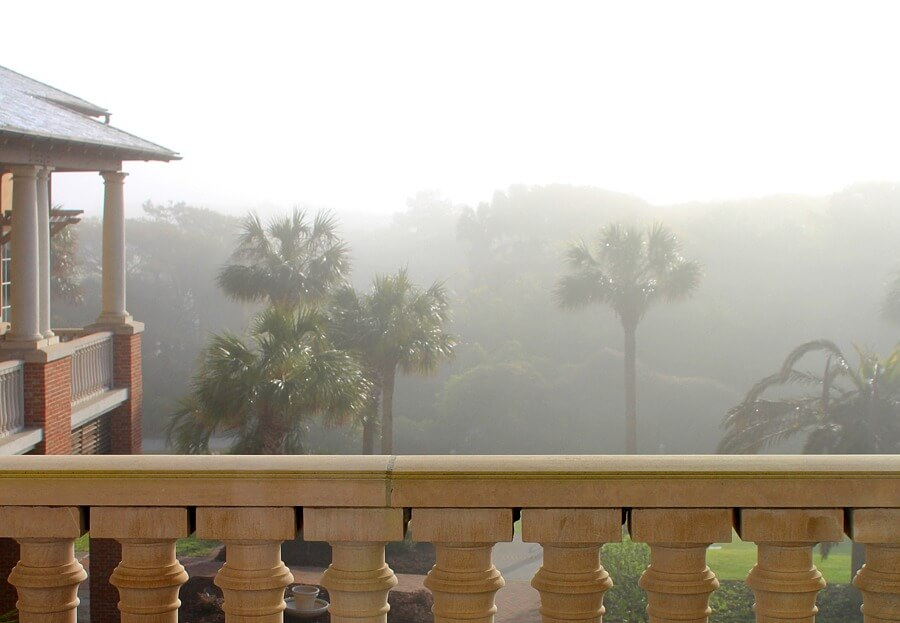 Balcony view from room at The Sanctuary on Kiawah Island