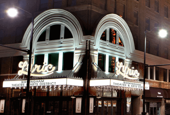 The Lyric is one of Birmingham's most historic theatres. Both inside and outside are incredible photo spots.