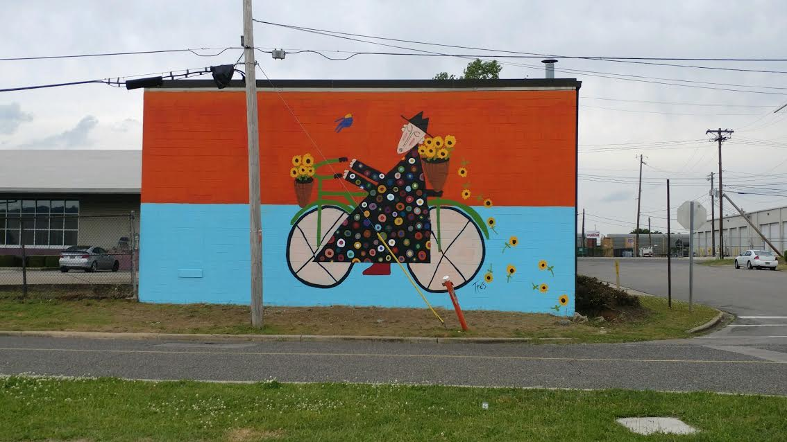 One of the city's newest murals sits outside Alabama Ballet and features a fun, whimsical painting.