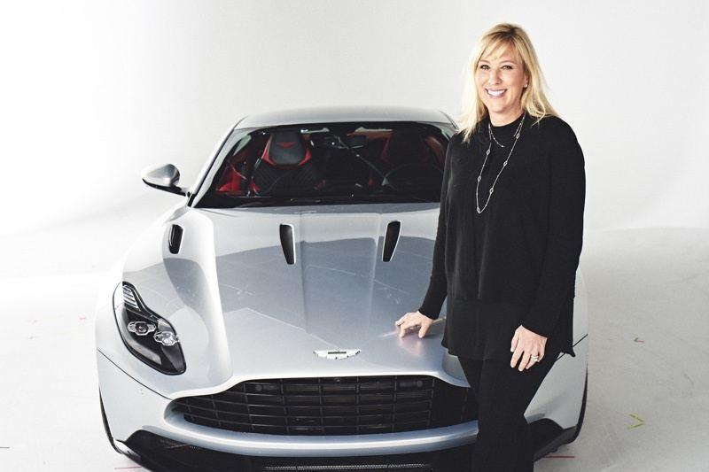 Laura Schwab, President Aston Martin The Americas with the DB11 | Image: Aston Martin The Americas