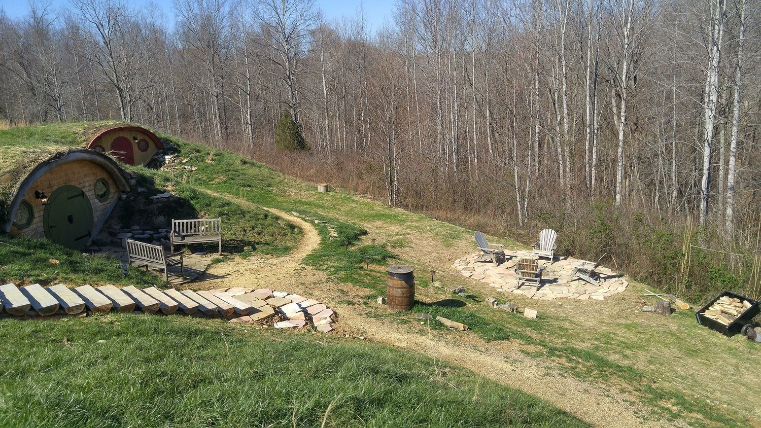 Explore the property by day, and come nightfall, build a fire in the firepit as you marvel at the quiet location and beautiful sounds of nature.