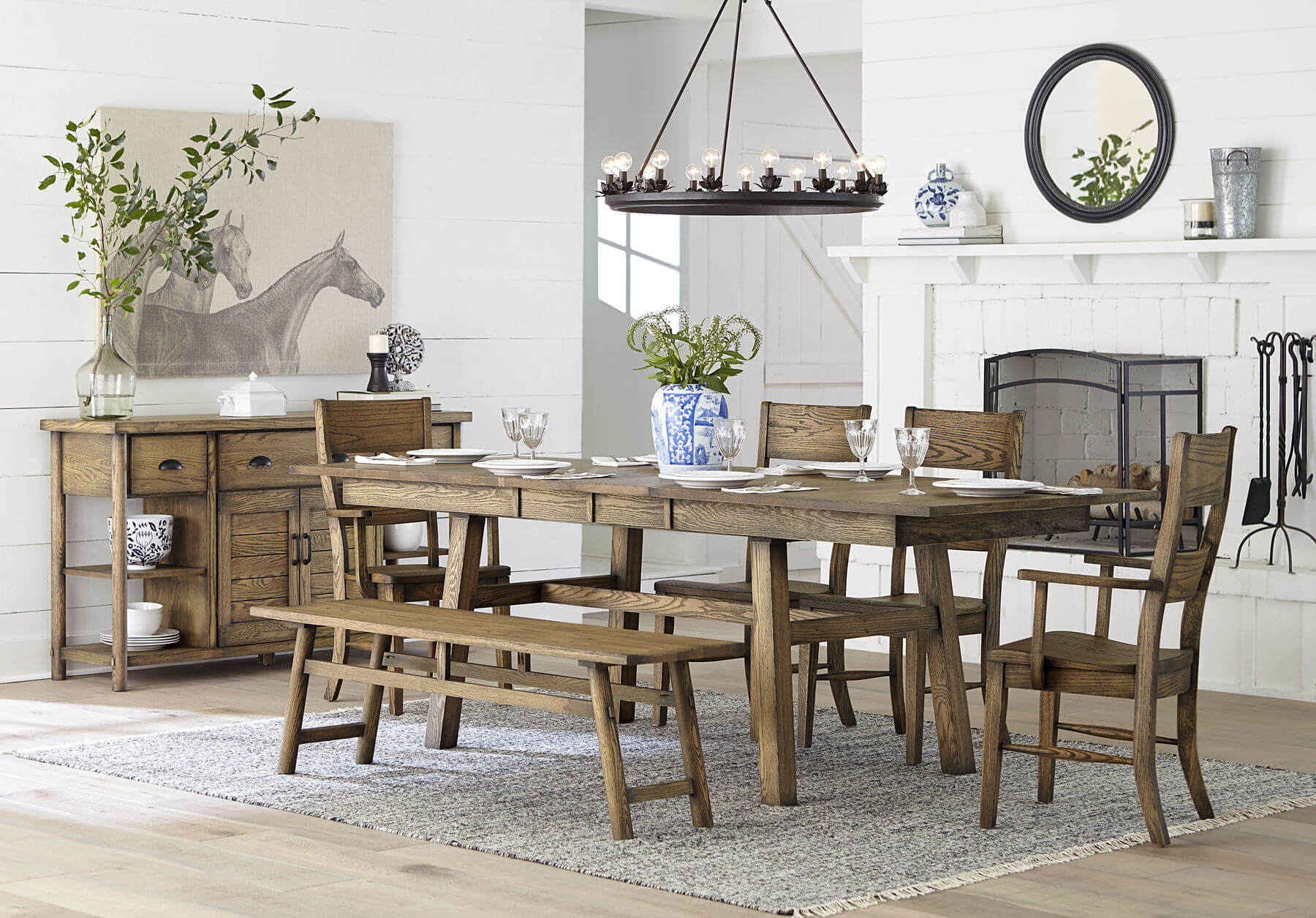 Catina's Madera Collection offers rustic elegance to any home.