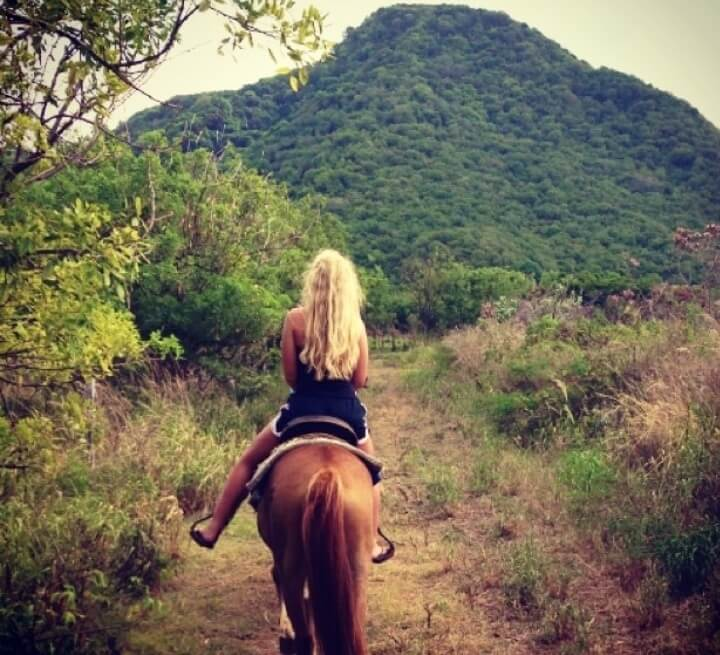 Riding horses in Saint Kitts is a must.