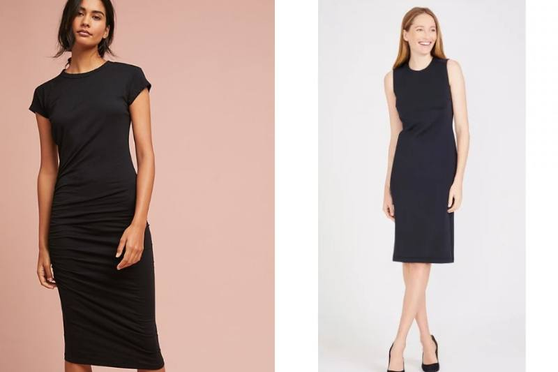 c5d1cdd9666 This basic dress by Sundry is ultra-flattering with a crew neck