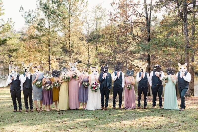 A Forest Wedding Teeming with Personality & Pets