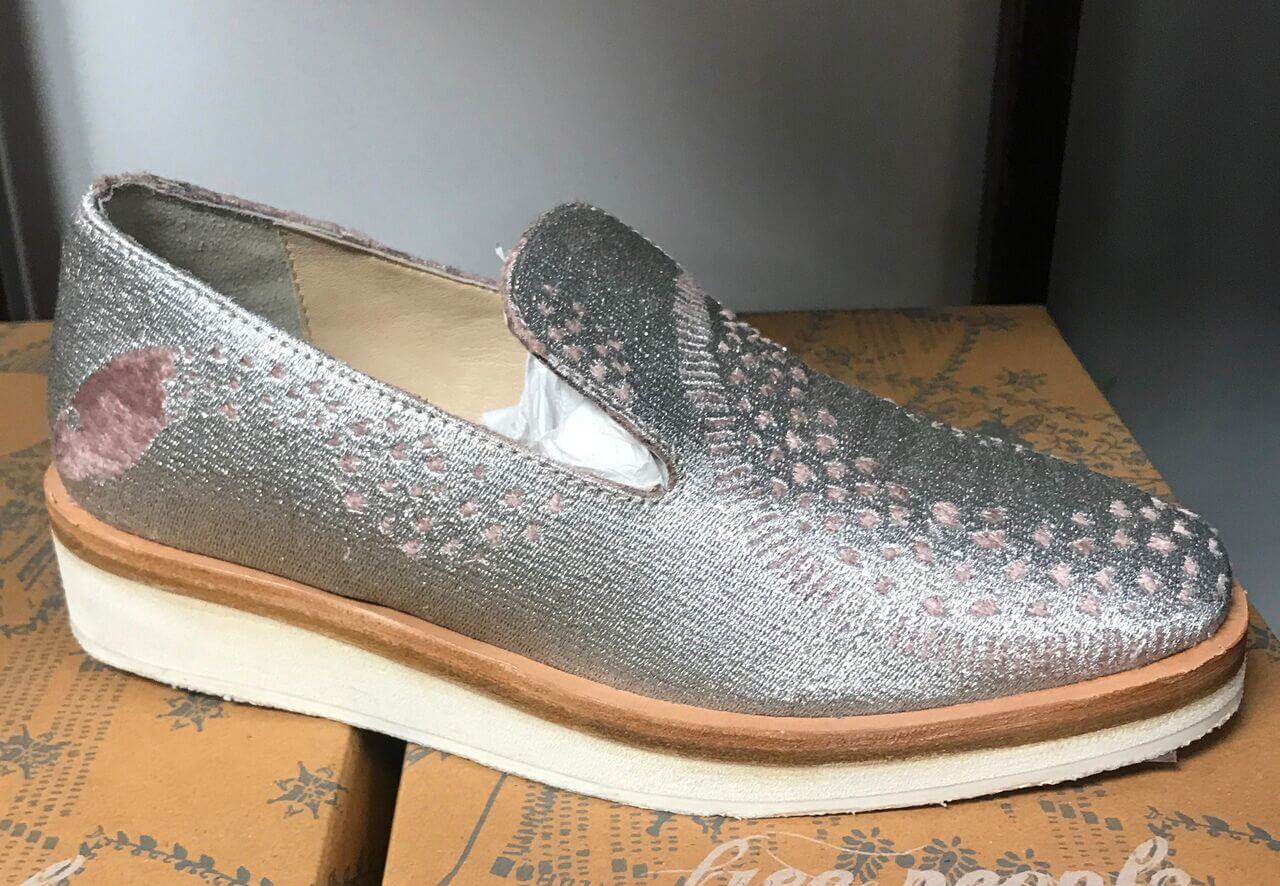 Make a statement in these silver loafers.