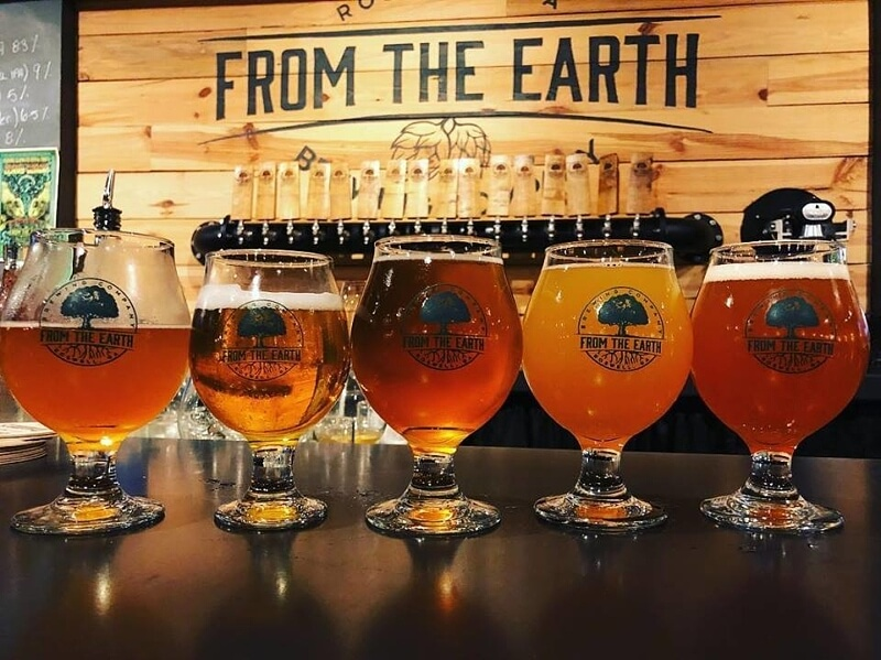Beer flight from From The Earth Brewing Co. in Roswell