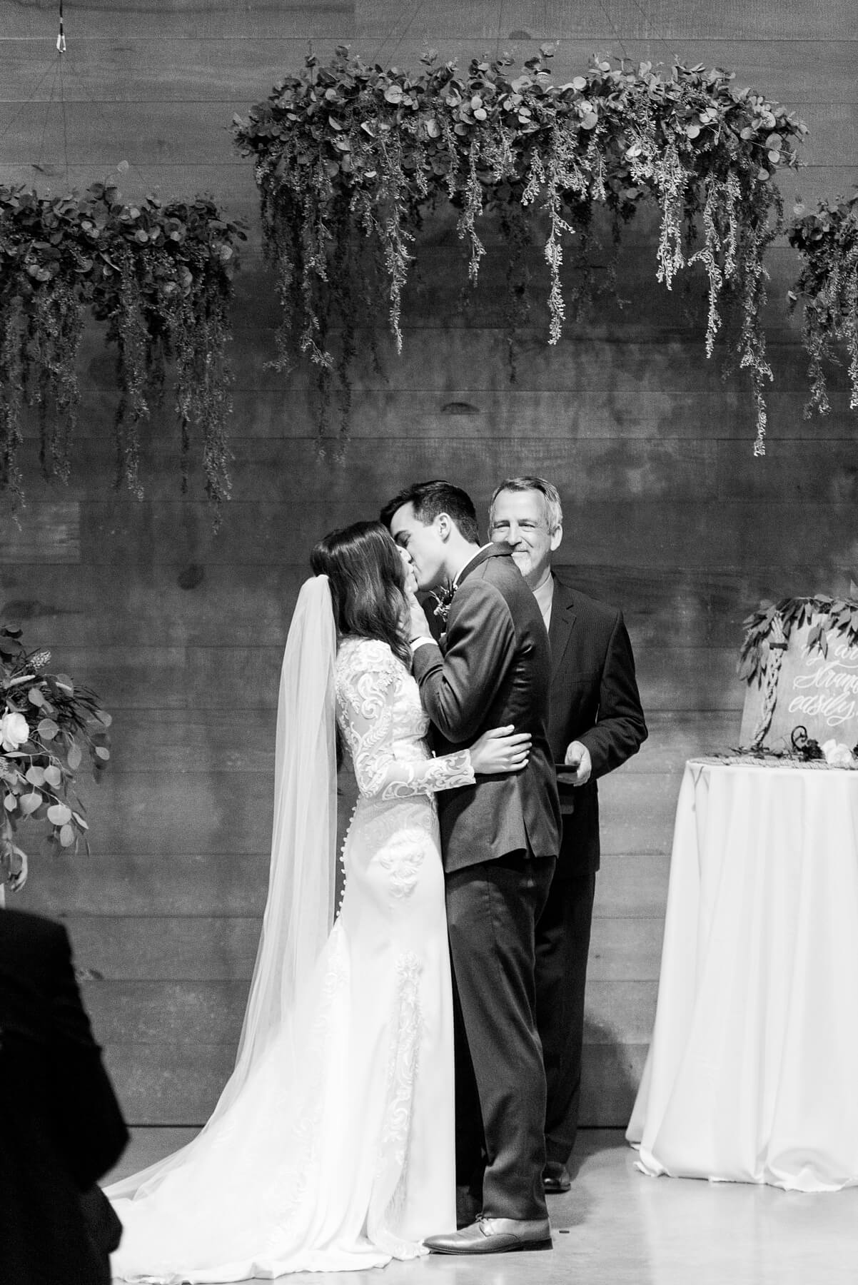 A blessing and a kiss and Pierson and Ashley are Mr. and Mrs.!