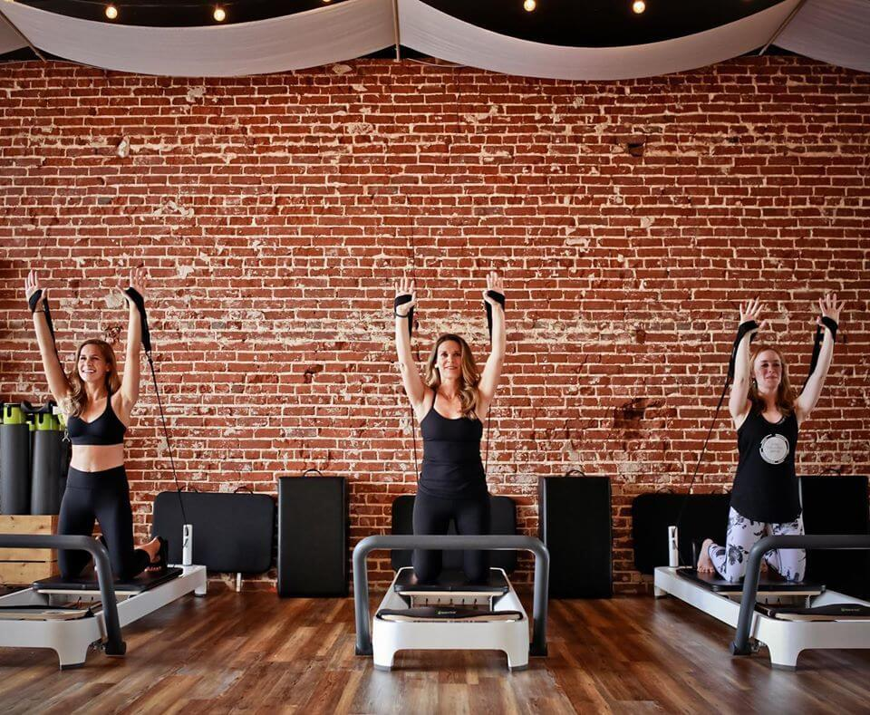 Three women working out during private session for January FINDS