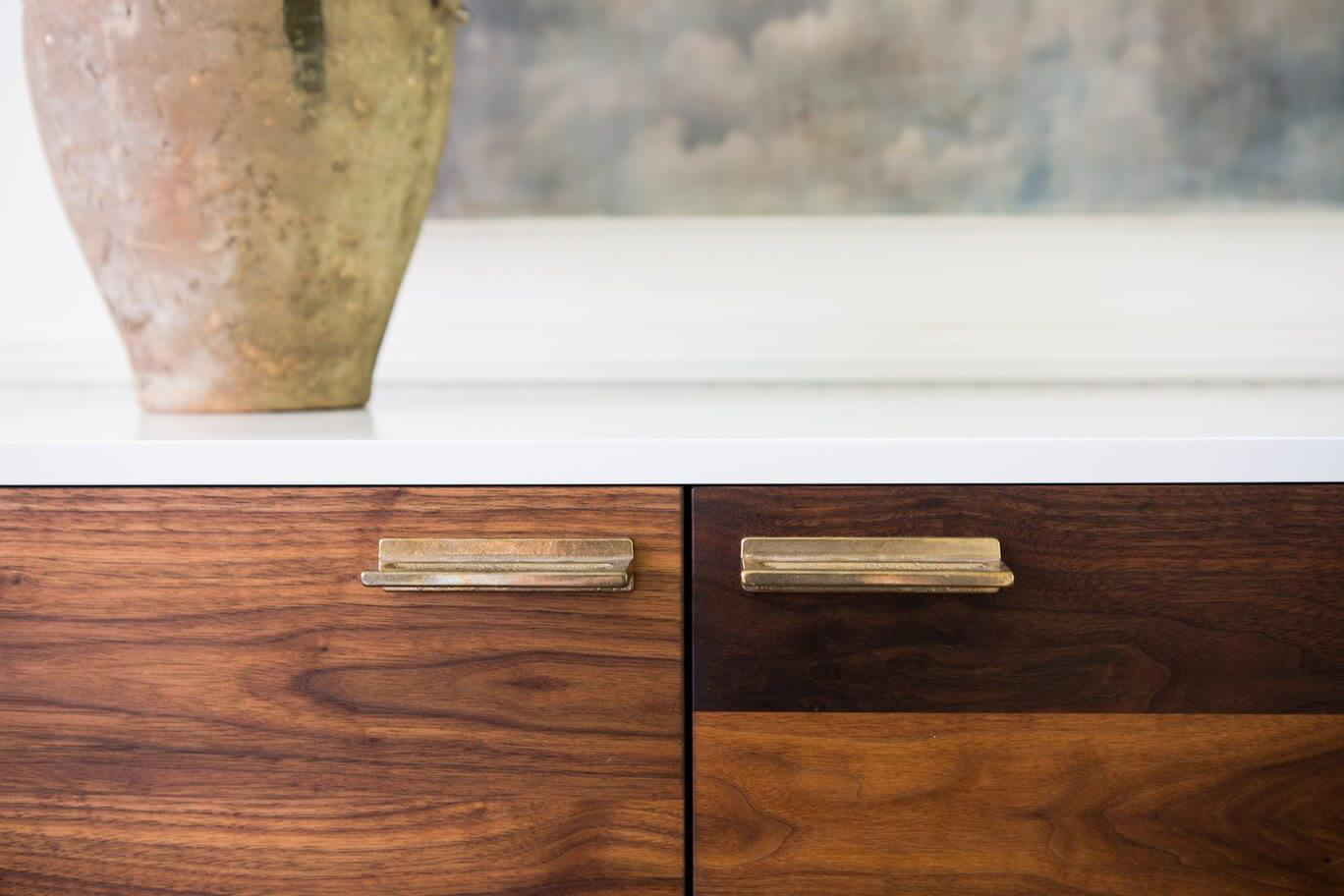 The brown finish on these cabinets is absolutely stunning!