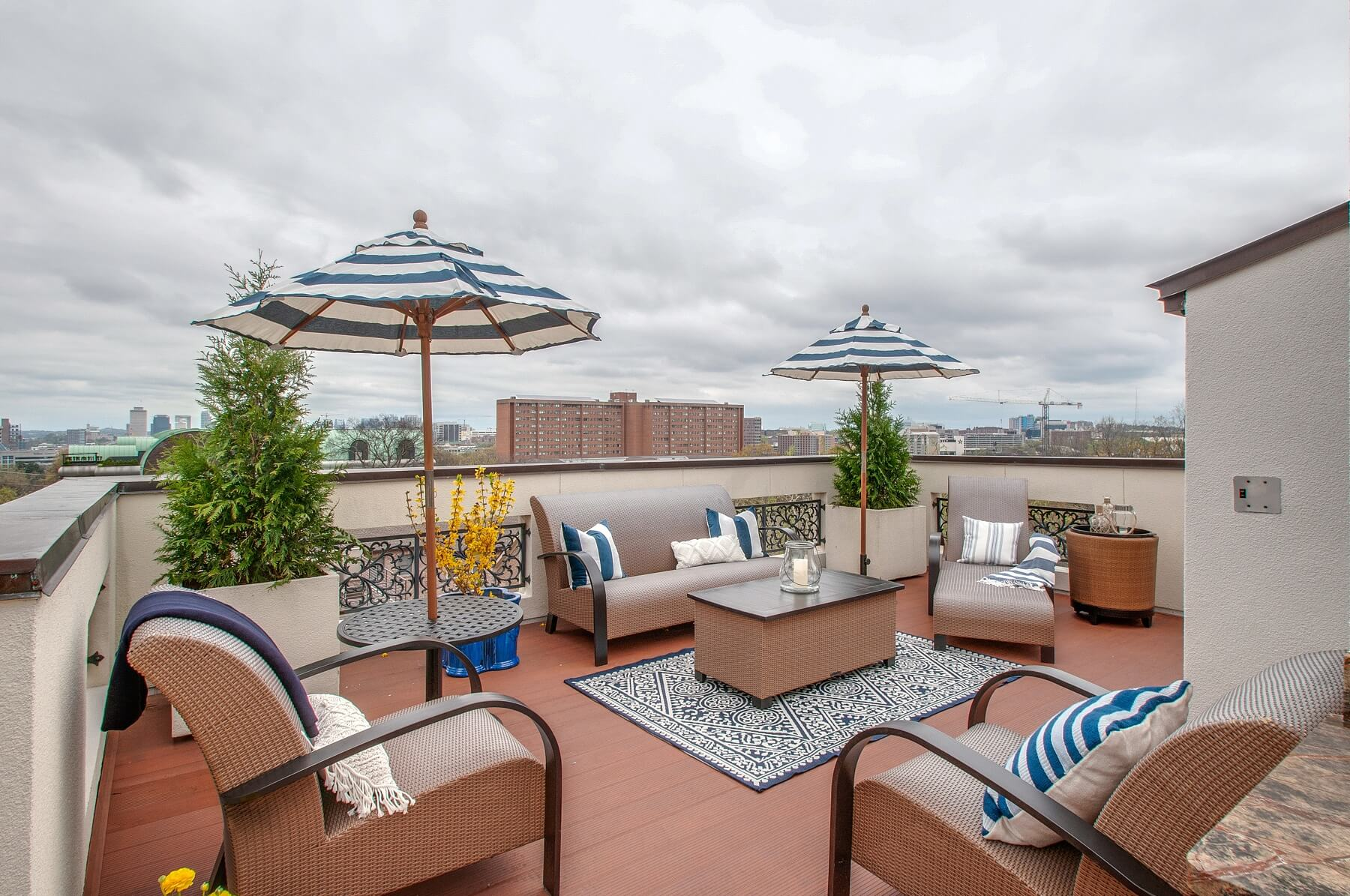 Places to Live in Nashville: rooftop view