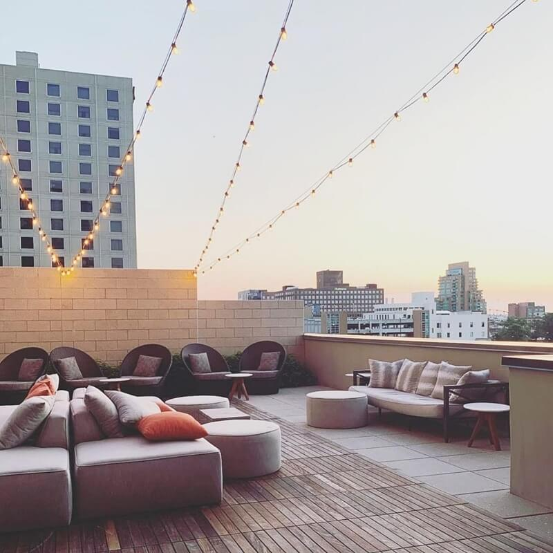 The Omni rooftop for bachelorette party in Louisville