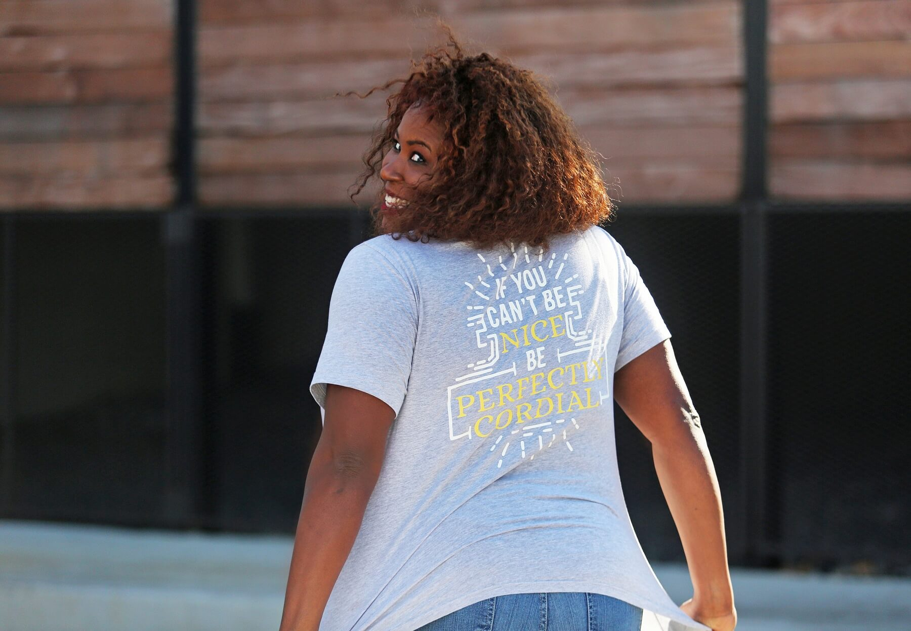 Perfectly Cordial T-shirt on Rhonda Cammon
