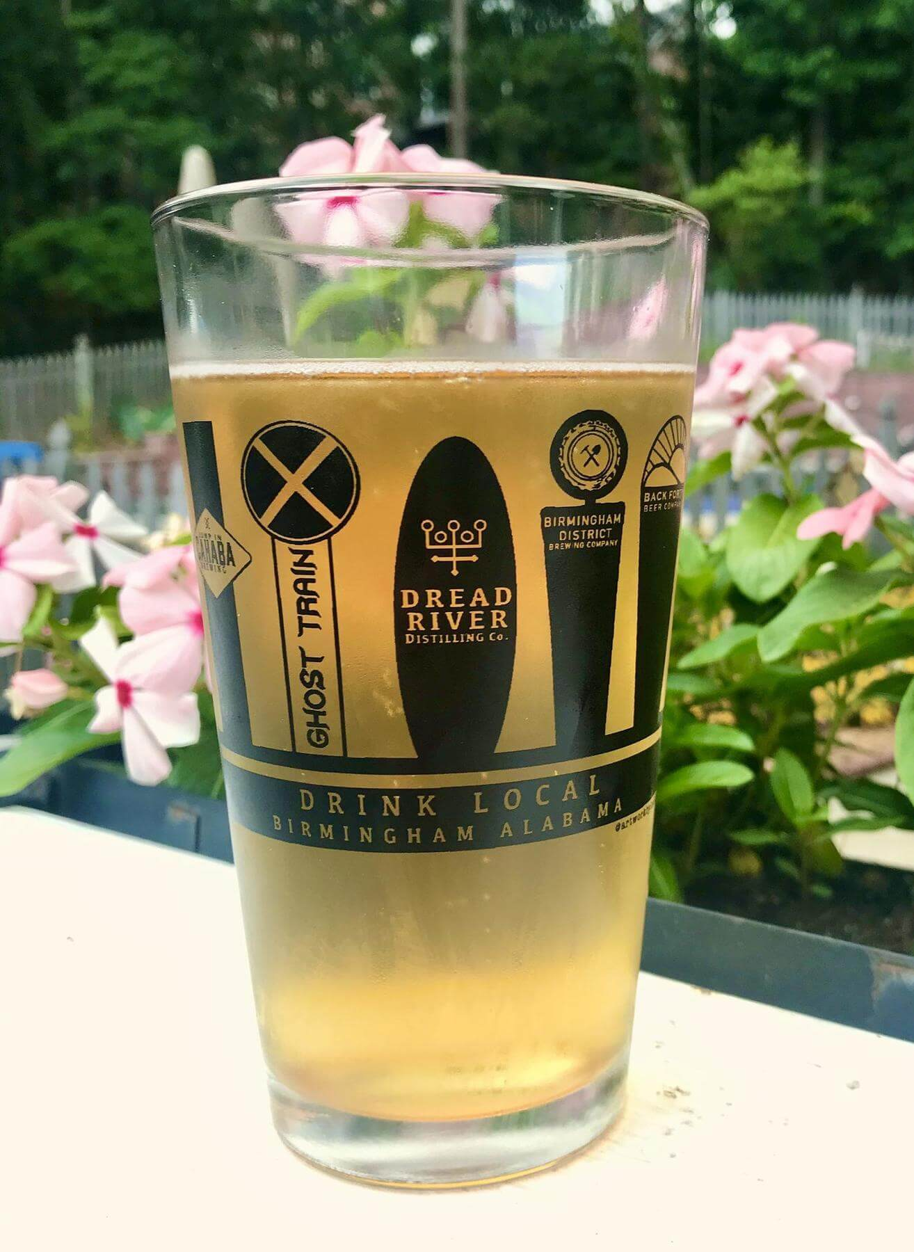 Birmingham breweries pint glass created by Art by Kaitlin