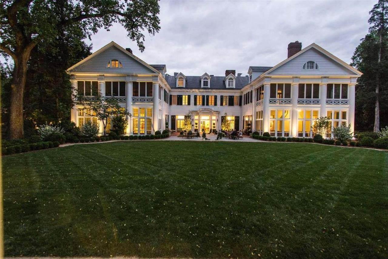 The Duke Mansion at nightfall
