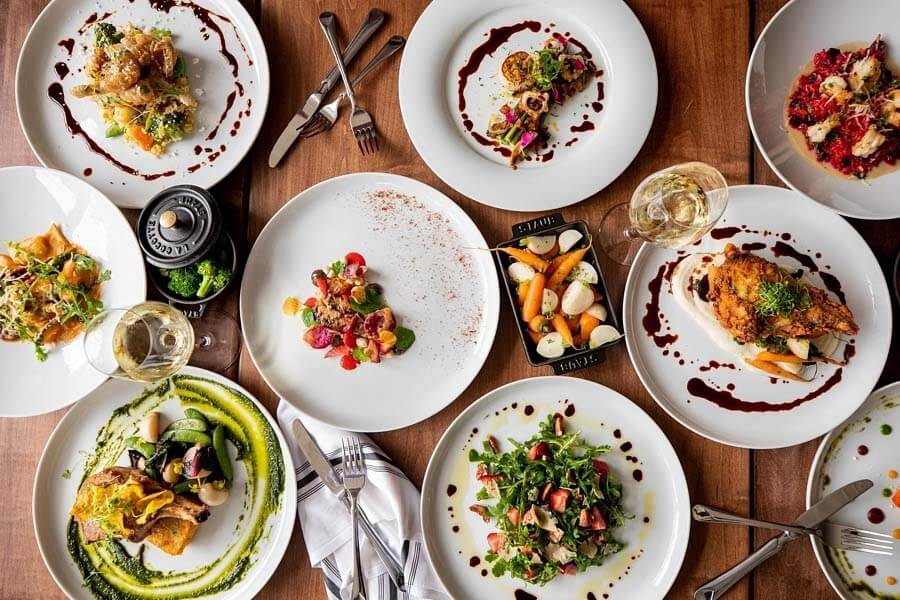 Spread of dishes at The Stanley, one of our favorite restaurants in Charlotte.