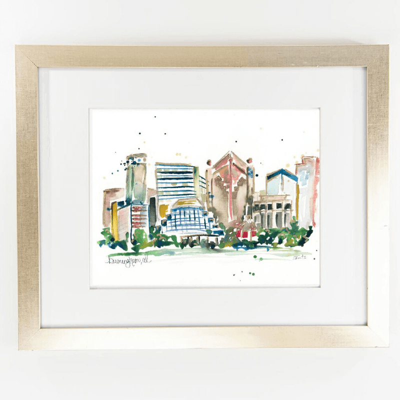 City skyline print for the kitchen from SB Shop